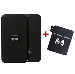 Discount universal adapter plate Universal QI Wireless Charger Pad Mat Plate Transmitter W  Adapter Receivers For Galaxy S3 S4 S5 Note 2 3 4