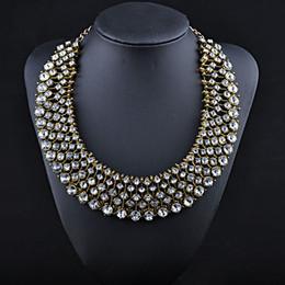 Bijoux en cristal de collier de collier de collier de luxe de strass Chunky Chain Bijoux de collier de marque NXL114
