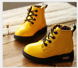 Wholesale fashion children shoes PU leather boys girl s martin boots kids snow boots Spring fall