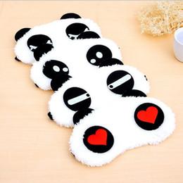 Wholesale Panda Sleeping Eye Mask Nap Eye Shade Cartoon Blindfold Sleep Eyes Cover Sleeping Travel Rest Patch Blinder