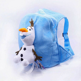 Wholesale Kids backpacks the frozen olaf backpack for children girl boy schoolbags plush bags girls boys stuff dolls bag Free Ship