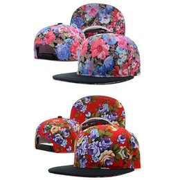 Wholesale Flower Printed Bboy Snapback Baseball Hat Adjustable Hip hop Cap yylQDLD444