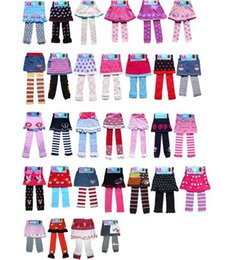 Wholesale winter crochet baby clothes girls dresses Knitting culottes Pants children cartoon divided skirts Children s Leggings Tights