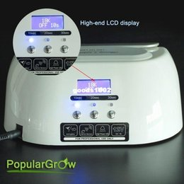 Wholesale With LCD Display W CCFL LED UV Nail Lamp Dryer Light Timer Gel Nail Polish
