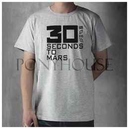 Wholesale THIRTY SECONDS TO MARS top lycra cotton short sleeve T shirt Fashion Brand men t shirt new high quality