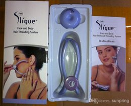 Wholesale Slique Spa quality Face And Body Hair Threading Removal System For Women remover by DHL