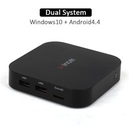 Wintel W10 Mini PC Quad Core двойной загрузки Windows, Android 4.4 10.0+ с Z3735F lntel 2GB 32GB Intel TV Box
