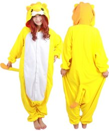 Wholesale Fashion New Designer Cosplay kawaii Anime lion Pajamas Adult Unisex jumpsuit Onesie Polyester Polar cute One Piece Sleepwear