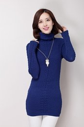 Wholesale 2014 new winter Womens woollen sweaters Ladies Clothes Long
