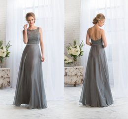 Lace Grey Chiffon Bridesmaid Dresses Online | Lace Grey Chiffon ...