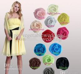Wholesale Simple Spring bridal shawl bridal coats faux fur cape Big Discount Chiffon Shawl Wrap Jacket Bolero Shawl For Party Dress