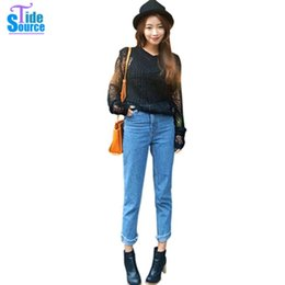 Wholesale 2015 Korean Style Sexy Hollow Out Cropped Small Pullover Tops Fashion Long Sleeve Spring Autumn Sweater for Women Crochet Jumper