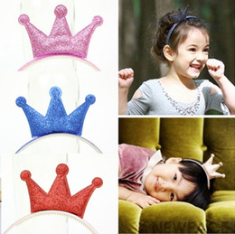 Discount headband plastic accessories 5 colors New Design Angle Headband Shiny Crown Accessories Children Accessories Baby Hair Accessories Girls Hair Band free shipping TY1215