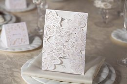 Wholesale Wedding Invitations Cards Personalized Floral Wedding Invitations Printable Wedding Invitations Laser Cut Greeting Cards