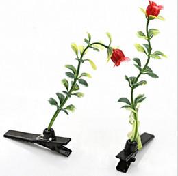 Новые Прекрасный Новый Растения Клипы Трава Фруктовый волос Headwear Маленькая почка Антенна Шпильки Лаки Трава проращивание Гриб партии Заколки