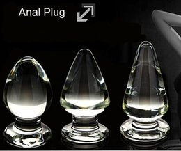 Wholesale New design Unisex Butt Toys Plug Anal Insert Food Grade Glass Sexy Stopper BDSM toys
