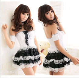 Wholesale Sexy Alice French Maid Sexy Cosplay Costumes Halloween Costumes Fancy Dress Outfits DH04