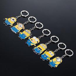 Despicable Me Porte-clés Cartoon Key Chain Despicable Me 3D petit oeil Minions figures jouet enfants Keychain 2,015 Hotsale