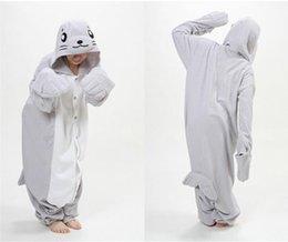 Wholesale Fashion Newest Kawaii Unisex Adult Novelty Sea lions flannel Pajamas cartoon Onesie jumpsuit Pyjamas Cosplay Costume Sleepsuit