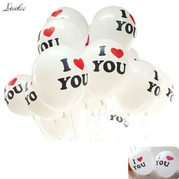 Wholesale 10pcs 12 Inch Cute I Love You Letter Cartoon Birthday Party Christmas Wedding Decoration Balloons Home Decor Supplier