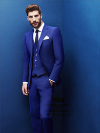 Grey Suit Royal Blue Tie Online | Grey Suit Royal Blue Tie for Sale