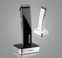 Wholesale 2015 Electric PRITECH Professional Rechargeable Titanium Hair Trimmer For Men Beard Mustanche Clipper Baby Hair Cutting Machine Hair Trimmer