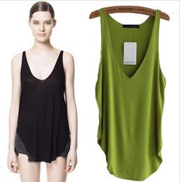 Wholesale 9 Colors Fashion Cheap Cotton Candy Color women ladies Deep V neck vest top tanks camis