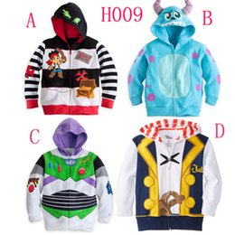 Wholesale have stock Jake and the Neverland Pirates Monster University TOY3 boys Fleece Hooded cardigan coat top outwear hoodies
