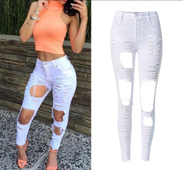 White High Waisted Skinny Jeans Suppliers | Best White High ...