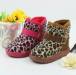 Wholesale New Fashion Children s Snow Boots Leopard Flat With Warm Winter Boots For Baby Girls Boys Warm Winter Shoes
