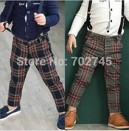 Discount Boys Plaid Pants Suspenders | 2017 Boys Plaid Pants ...