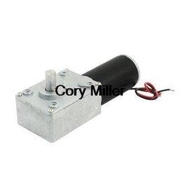 Discount high torque worm gear DC 24V 8000RPM 80RPM Rotary Speed Reduce High Torque Worm Gear Motor order<$18no track