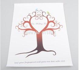Wholesale 30 CM Wedding Tree Guest Book Fingerprint Canvas Painting Wedding Decoration Party