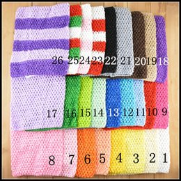 Wholesale Mix Hot Selling Colors X20cm quot quot Toddler Baby Girl Elastic Crochet Tube Top Tutu Tops Chest Wrap Wide Crochet Headbands