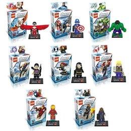5pcs Новые Мстители: Возраст Ultron Building Blocks 8 Стили 2015 Мстители DIY игрушки кирпичей