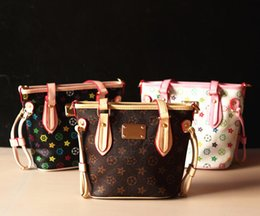 Wholesale Retro Handbag Kids PU Classic Designer Tote Handbags for Girls Mini Bags Children Messenger bag Pint Handbag