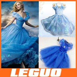Wholesale 2015 Cosplay Costume Kids Dress Girls Cinderella Butterfly Dress Princess Blue Girl Party Dresses Belle Princess yellow DHL free ship D