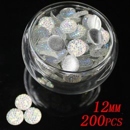 Wholesale 200pcs mm AB colors round flatback Resin rhinestone resin beads great for dresses shoes scrap booking diy