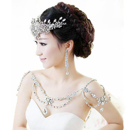 Wholesale Rhinestone Bridal Shoulder Chains Necklaces Bridal Jewelry Bridal Accessories Diamonds Tassel Wedding Necklace Wedding Party Jewelry