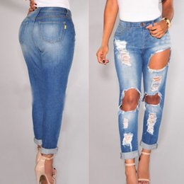 Discount Ladies Ripped Distressed Jeans | 2017 Ladies Ripped ...