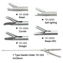Wholesale Needle Holder V Type X330mm Laparoscopy Laparoscopic Endoscope FORCEPS FAVOR ON
