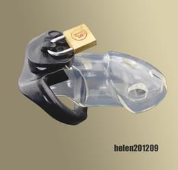 Wholesale Amazing Price Latest Design Male Bondage Polycarbonate Locking Chastity Device Fetish New BDSM A163