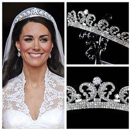 Wholesale Kate Middleton Tiaras Hair Accessories Crystal Rhinestone Crowns Bridal Wedding Accessories Crystal Princess Tiaras Pageant Crown