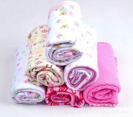 Wholesale Newborn Cotton Baby Cuddle Blanket Infant Robes Washing Cloth Baby Bed Children Sleeping Blanket