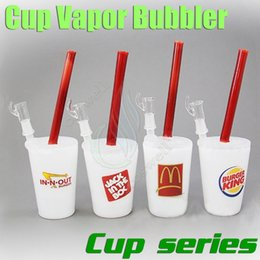 Free Ship McDonald's Dans N OUT Jack Dans La Boîte BUGER KING Starbuck Cup Bubbler verre bong bongs tuyaux d'eau plateformes pétrolières rig pipe ash dab hookah
