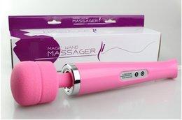 Wholesale Magic Wand Full Boday Massager with Hitachi Wand AV Vibrator With speed Hitachi Wand Magic Wand Massager colors DHL free