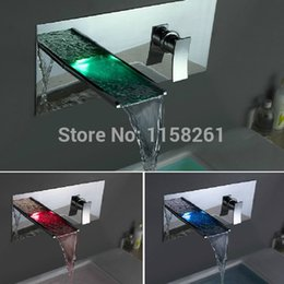 New Style Design Led Waterfall Wall Mounted Faucet Bath Faucet Bath Mixer Bathtub  Faucet Tap HotNew Style Bath Faucets Online New Style Bath Faucets For ...