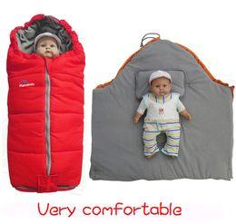 Wholesale 2014 thicken winter cotton manta bebe blanket sleeping bag newborn children envelope anti tipi zipper hoodie bedding for toddler