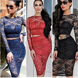 Wholesale 2015 womens spring Black lace Piece Bandage Sexy Bodycon dress Celebrity night club Dress party woman clothing
