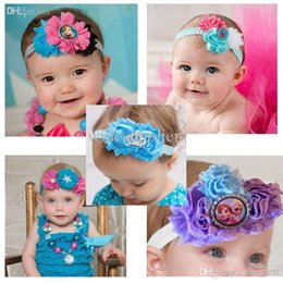 Wholesale New Frozen Hair Flowers hot hair bows hairbands Cartoon hair bow clips christmas hair accessories fashion baby hair clips frozen hair flower
